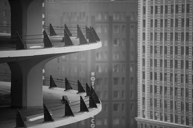Chicago skycraper parking lot by Aris Vrakas