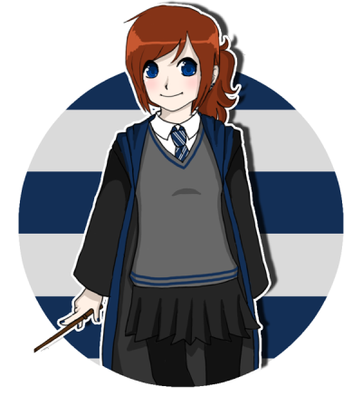 "I know I'm late on the ""Draw your Pottermore character"" trend thing, but I'm in full HP mode right now. Though, admittedly I haven't done anything in my Pottermore account past getting sorted…Anyways! It's just been a sleepy Sunday. I was listening to the Prisoner of Azkaban audiobook the whole time I was drawing c: I guess I'm never actually as cute as I draw myself out to be, oh well. But, my Pottermore username is ProphecyMoon24 if anyone cares to add me (even though I don't really use it…)"