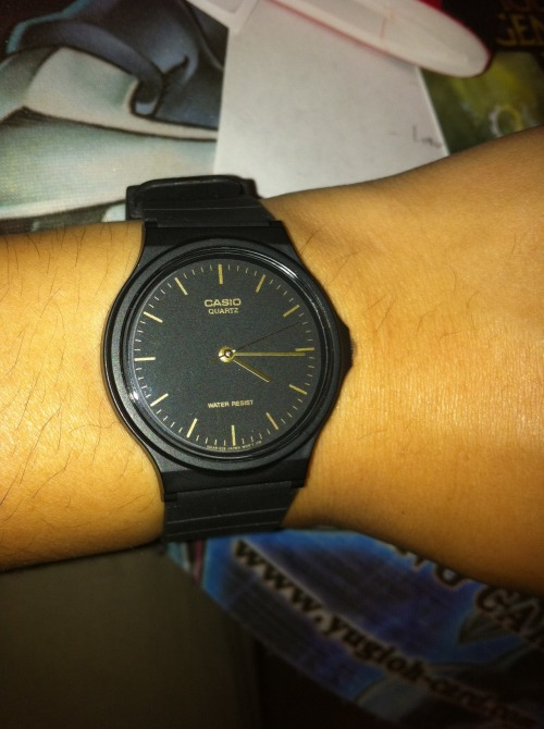 theoddlamb:  my new casio watch i randomly bought today