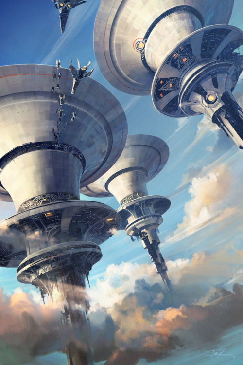 unknownskywalker:  Skycities by Tuomas Korpi