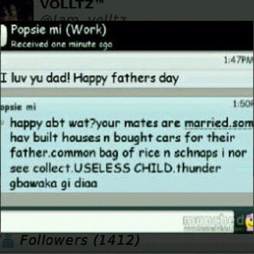 theresonlyonetimz:  I am officially dead! LOOOL #nigerian #fathersday #africanparents (Taken with Instagram)