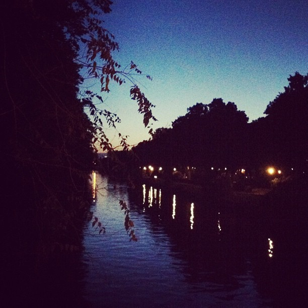 Dusk on the water, Berlin. (Taken with Instagram at Berlin-Kreuzberg)