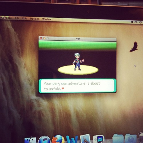 #vba #pokemon #pokemoncrystal #emulator #mac #macbookpro  (Taken with Instagram)