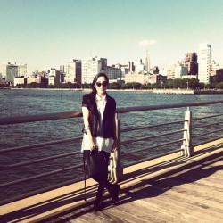 Being a tourist #cateye #sunshine (Taken with Instagram at Pier 46 - Hudson River Park)