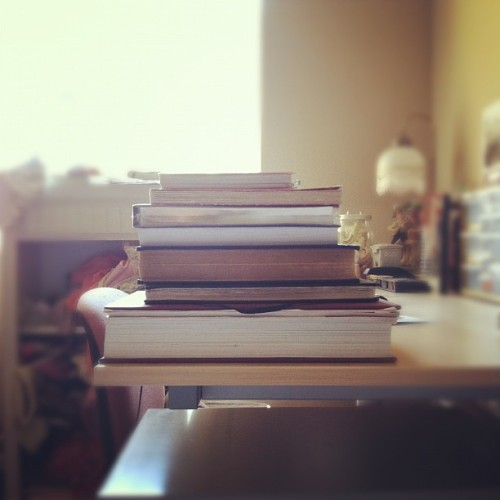 candicesaysrawr:  Books + Journals (Taken with Instagram)