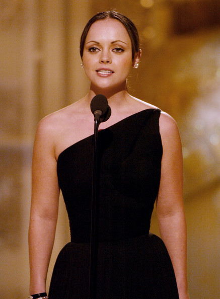 Christina Ricci on stage at the 61st Annual Golden Globe Awards on January 25, 2004