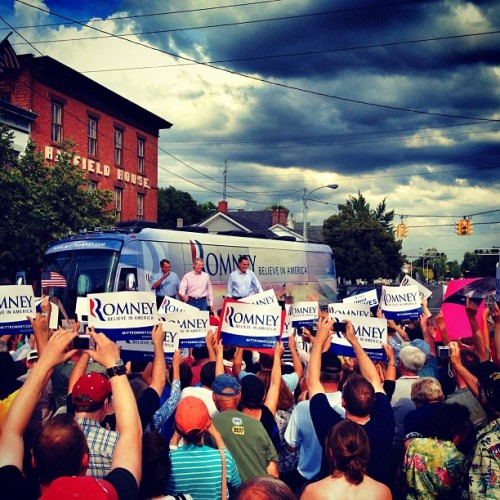 John Boehner, Rob Portman and Mitt Romney in Troy OH (Taken with Instagram)