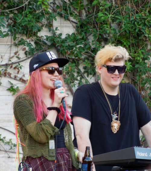 frufrufruits:  Grimes and blood diamonds@ Make Music Pasadena