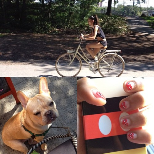 Bike ride. Dog run. Nails done.  xoxo MC