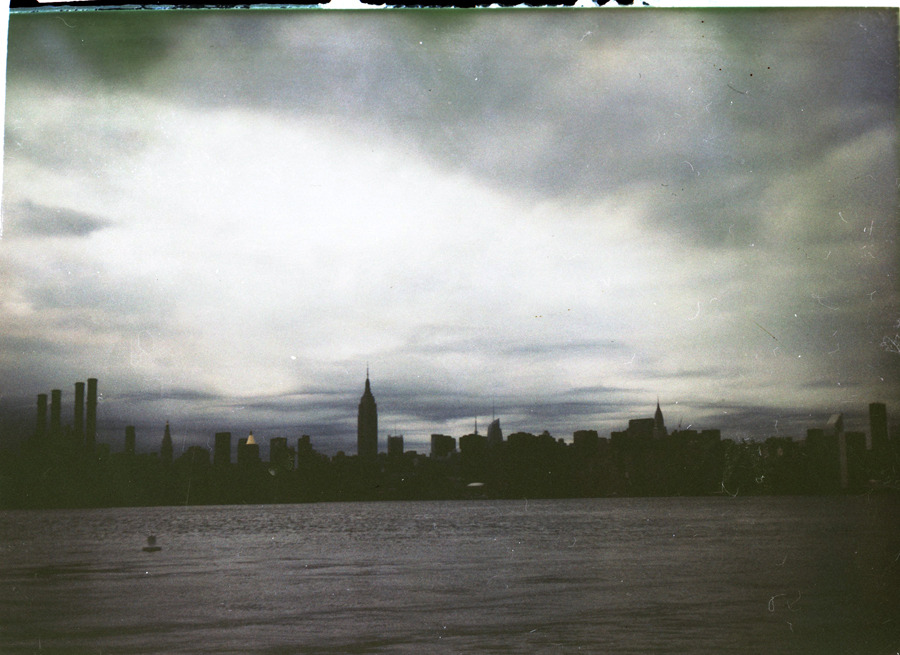 joshwool:  Manhattan Fuji FP100 negative scan/Polaroid Land Camera by Josh Wool