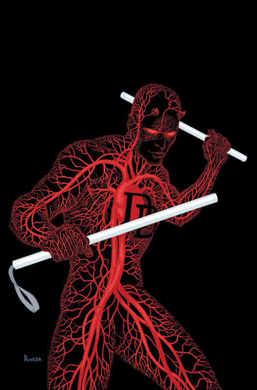fivedeadlyeverythings:  Daredevil by Paolo Rivera