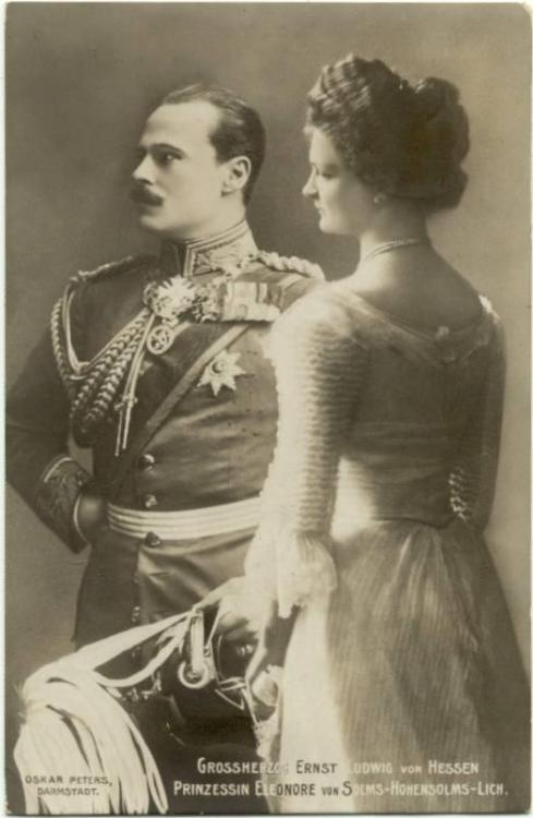 thefirstwaltz:  The Grand Duke and Grand Duchess of Hesse (this is Eleonore, his second wife).