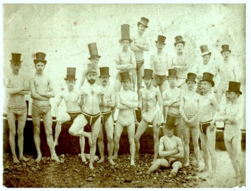 punkassbookjockey:  (via Brighton Swimming Club, 1863 | Retronaut) Does a day go by where I don't want to post something from Retronaut? Hardly.  You guys, McCarren Park Pool opened again.