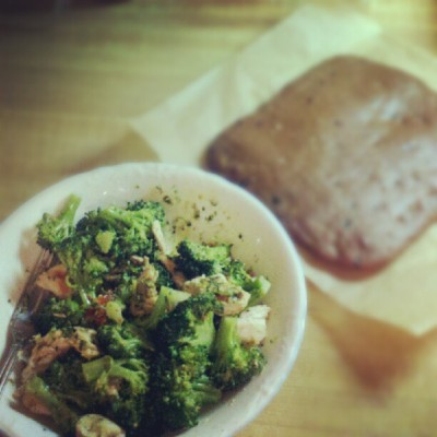 Focus on the #dinner for now.. if you can. ;) #paleo #chicken #broccoli #sundriedtomato #basil #pesto #dessert #foodporn #healthy #food (Taken with Instagram)