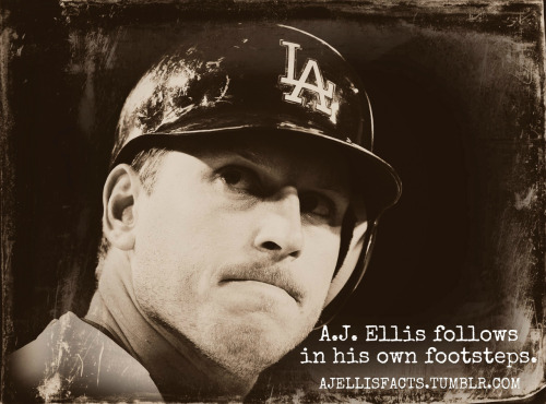 A.J. Ellis follows in his own footsteps.