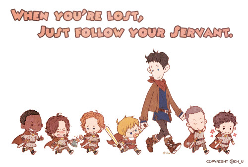 tasangnokun:  Arthur, his nanny Merlin & toddler knights  Too adorable, look at baby Percy and Arthur with the pacifier lol