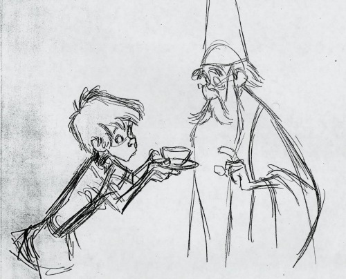 Sketch work for Disney's 1963 film Sword and the Stone. If it's not obvious, I'm a big fan of the animation process.