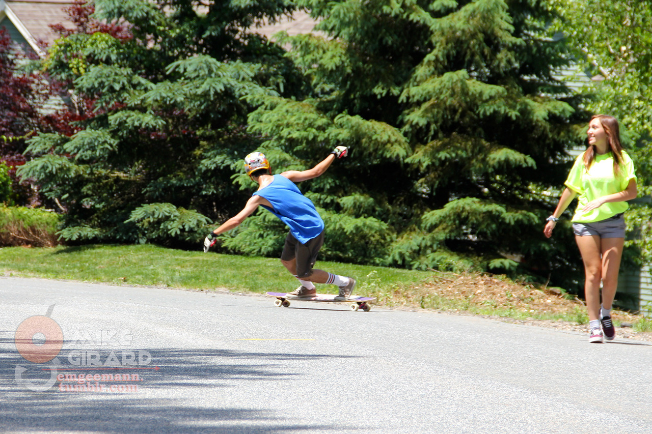 Toeside Check. Chris O'Brien of Team Tangy, making girls smile. -MG