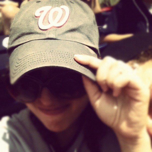 I may have rocked Nats gear to the Yankee game today. [169/365] # #project365  (Taken with Instagram)