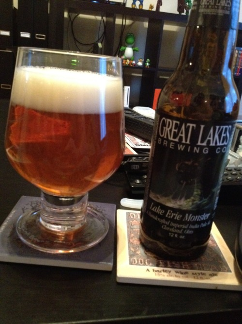 Great Lakes Brewing Co | Lake Erie Monster | 9.1% ABV Imperial IPA The monster is back and it's fucking delicious! Fresh carmel and malt taste with just the right amount of bitterness. This is a great beer. Availability is May though July so snatch it up if you see it! Price: $11.99/4pack Rating: 9/10