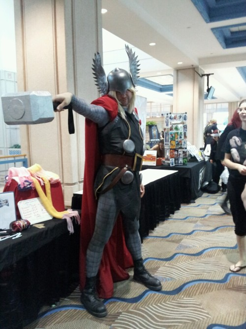 No lie, this guy was 7 feet tall.  As in, it was the cosplayer's true height.  SO TALL. SO AWESOME!