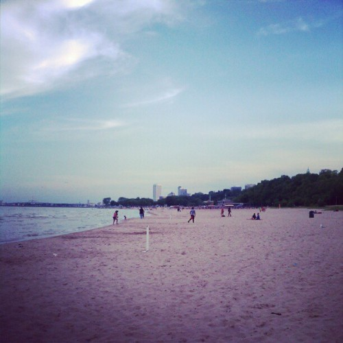 Milwaukee beach time. (Taken with Instagram)