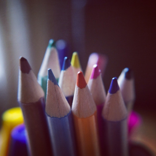 i wish i needed to use colored pencils in my job.  teachingliteracy:   (by slightly everything)
