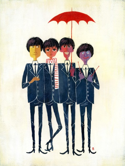 heyoscarwilde:  Happiness is a warm gun The Beatles illustrated by Brigette Barrager :: via brigetteb.blogspot.ca