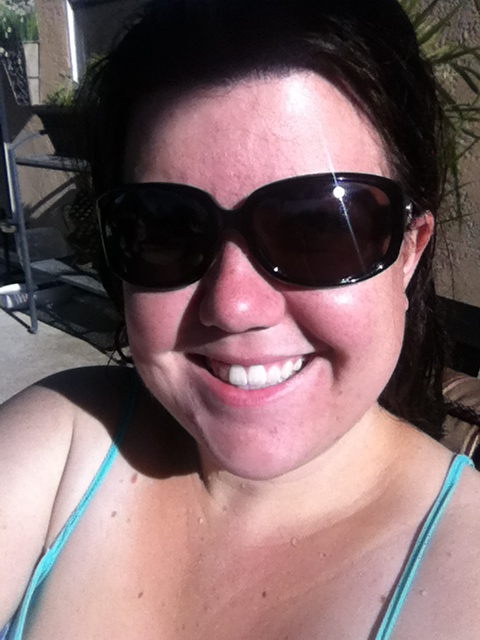 Feeling good :)  Pool time always brightens my day!!