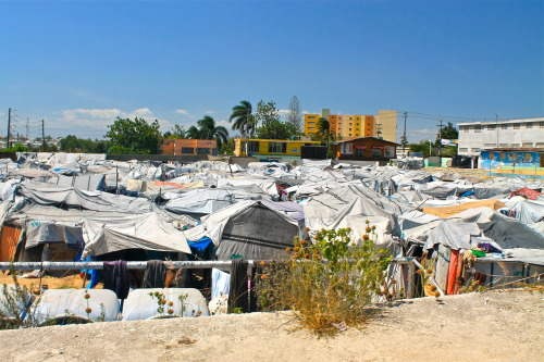 Tent City Port-au-Prince, Haiti  It's been more than two years since the devastating 7.0 magnitude earthquake struck Haiti on January 12th, 2010. Despite progress being made by the government towards constructing new housing for the families who were displaced during the earthquake, more than 400,000 people continue to live in temporary housing throughout the country.
