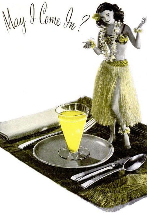 hollyhocksandtulips:  Dole pineapple juice, 1941