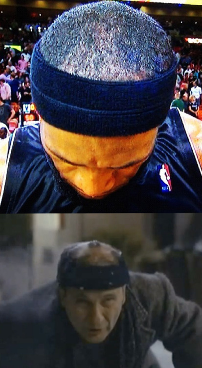 Lebron's double headband = Harry's burnt beanie