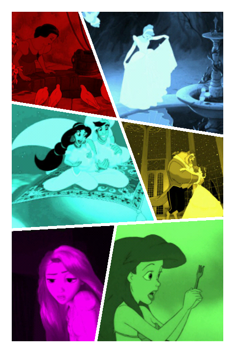 Paint with all the colors of the Princesses :3!
