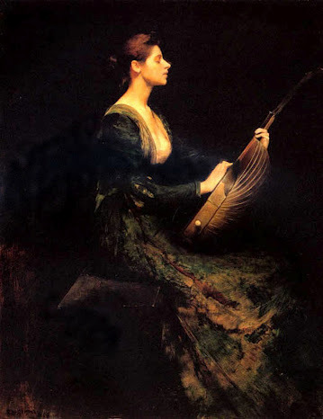 phassa:  Dewing, Thos - Lady with Lute