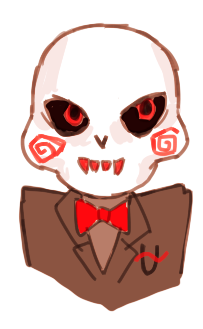 I made this little cherub uu based on the Saw puppet I know he's probably going to be green like Calliope but whatever haha (Also, Hussie took down the request not to spoil so I'm assuming it is officially safe to post this kind of thing without a read more)