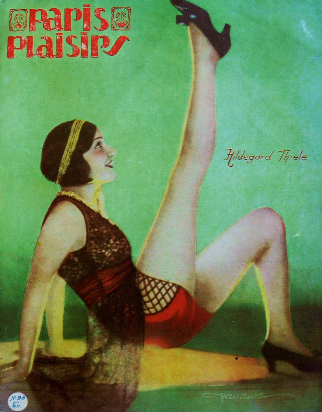 whataboutbobbed:  Hildegard Thiele on the March 1930 cover of Paris Plaisirs