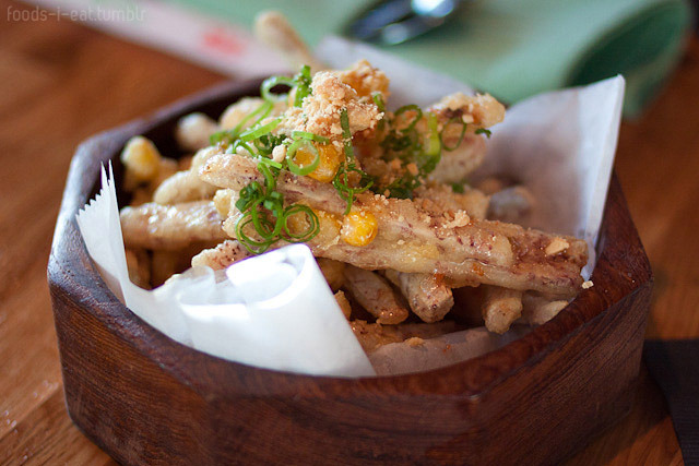 Sweet corn taro tempura at SPIN (Austin, TX). This was one of my favorites of the night. I loved the sweetness that the corn added.