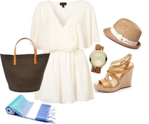 A Sunday in the Park by icey0701 featuring a cape dress