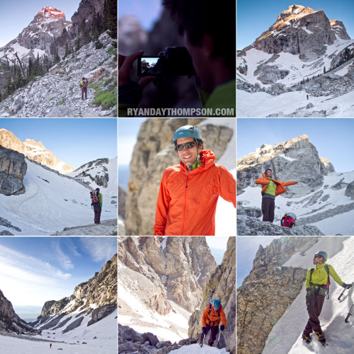 Attempt on the Middle Teton with Tim Banfield. Photos © Ryan Day Thompson, 2012