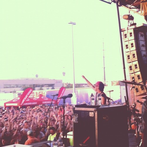Watching @alltimelow backstage @warpedtour (Taken with Instagram at Vans Warped Tour @ Denver)