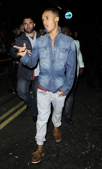 derriuspierre:  Aston Merrygold, from the boy band JLS, is spotted leaving Rose Club in London after partying into the early hours of the morning on June 16, 2012.