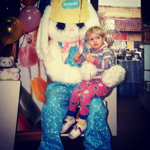 This Easter Bunny still haunts my nightmares. (Taken with Instagram)