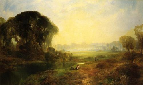 The beautiful nature in art Windsor Castle Artist: Thomas Moran