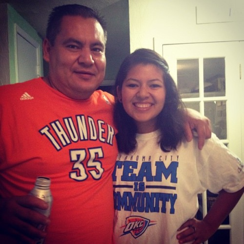 My dad is the only one who could make me THUNDER UP!! Happy Father's Day!!!!  (Taken with Instagram)