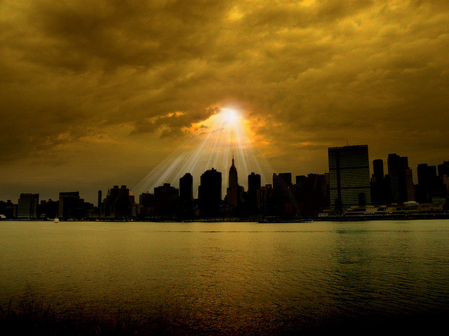 "coffeenuts:  ""NY Skyline"" by my4otos on Flickr."