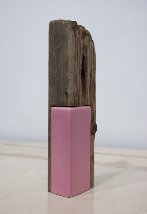 Alex Chitty   2011 wood and porcelain vase   (via Make Space - Alex Chitty)