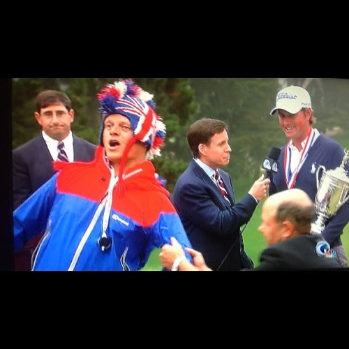 How can security permit this? #NBC #USopen #golf #birdbrain (Taken with Instagram)
