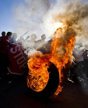 "South African protests ""spiralling"" June 17, 2012 Municipal IQ, a local government data and intelligence service institution, has warned that 2012 could be remembered as the year of service delivery protests if South Africans continue to take to the streets at their current rate.In fact, the country is set to record the highest number of delivery-linked protests by citizens since 1994. Source"