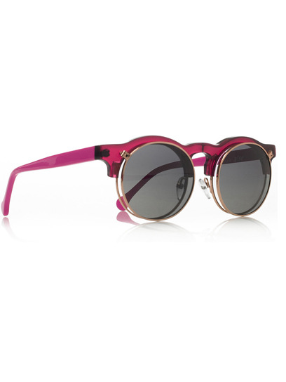 Add a pop of color to your summer wardrobe with a pair of neon sunnies, like these hot pink shades from Carven. Check out more stylish finds here »