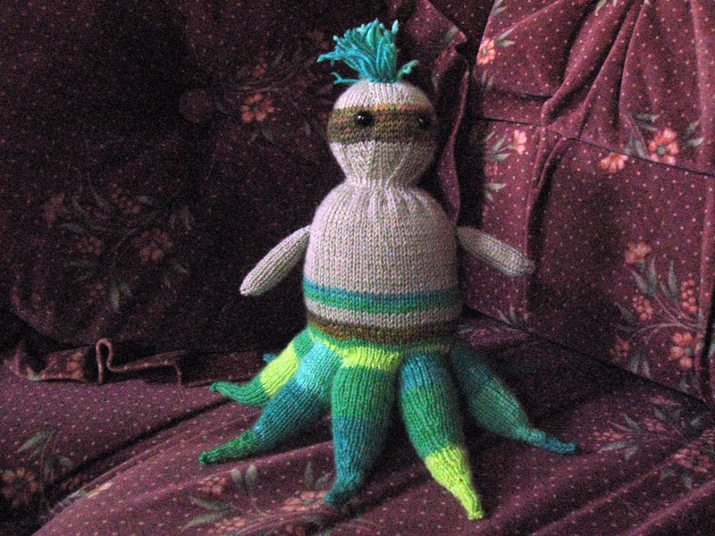angorathekid:  starfishface:  bonyfish:  Well I just finished knitting this guy today. I'm going to make more and sell them on etsy. Who out there would buy one of these guys for about $20-$25?  Signal boosting the tentacle friends. Because Livals is awesome and you should totally buy one.  Hey guys, this is super cool